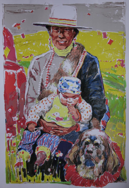 《金色高原》104×76cm 版画 2014年