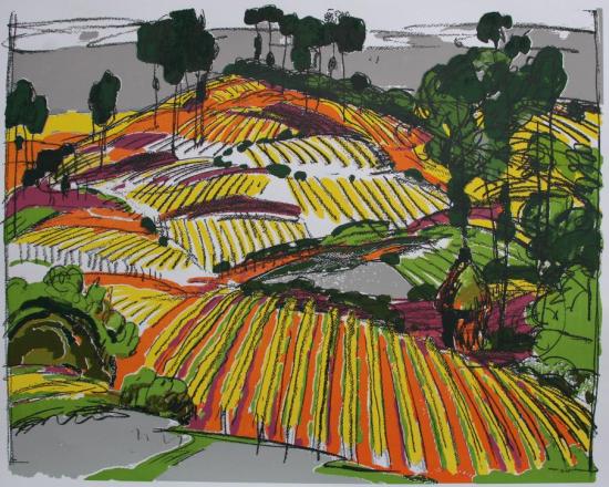 《艳阳天》 70×90cm 丝网版画 2004年