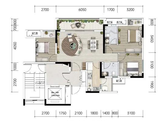图为中建清能·悦和城户型图。中建清能·悦和城供图