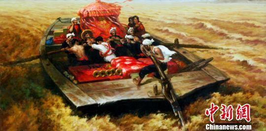 图为将在首届艺术重庆名家名作邀请展上展出的作品《河东河西》,作者为古月。主办方供图