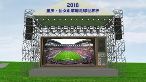 堪比親臨現場 去全球最大電視機前看世界杯