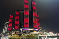 新加坡在华投资最大单体项目重庆来福士亮灯