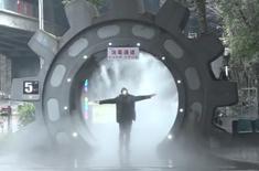 """360°自動感應(ying)無死角(jiao)消毒 消毒""""神(shen)器""""亮相重慶(qing)"""